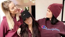 Kim Kardashian Feels Left Out as Her Sisters Sport Matching Burgundy Outfits