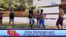 Volvió la pantera Ámbar Montenegro, sacó las garras en reality chileno