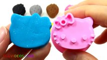Learn Colors Play Doh Strawberry Hello Kitty Molds Fun & Creative for Kids Rhymes EggVideos.com