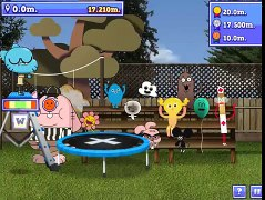 THE AMAZING WORLD OF GUMBALL SPORT GAME GUMBALL JUMPING THE