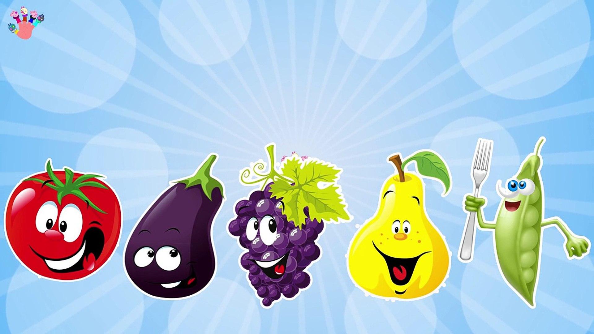 Овощи и фрукты Finger семья потешки стихи/