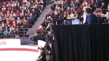 Marie France Dubreuil watches Tessa and Scott's Short Dance at Canadian Nationals 2017