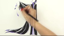 SPEED DRAWING Maleficent from Sleeping Beauty - Disney Villain Watercolor Painting