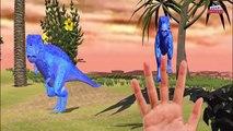 Dinosaurs colors gorilla Lion Finger family Rhymes - Fat hulk captain america 3d animation Cartoons