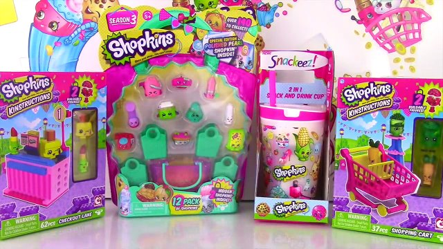 SHOPKINS KINSTRUCTIONS Shopping Cart & Checkout   12 Pack   Snack & Drink Cup   Season 1 & 3