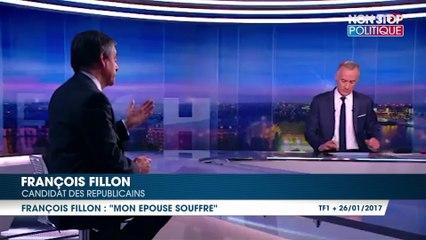 """François Fillon : """"Vous n'imaginez pas à quel point mon épouse souffre"""""""