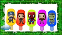 Spiderman | hulk | cap america | ice cream finger family song | ice cream video