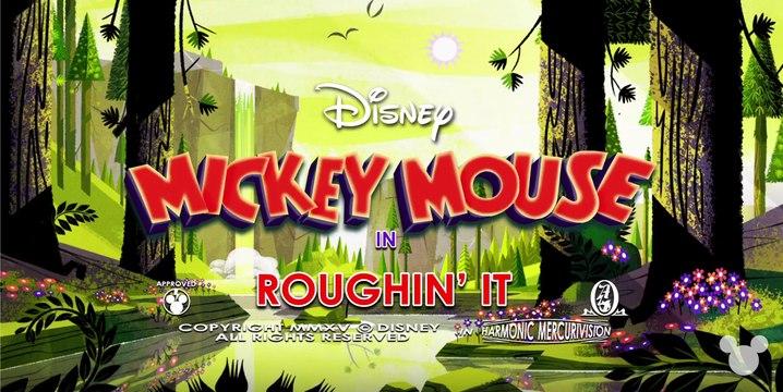 Roughin' It   A Mickey Mouse Cartoon   Disney Shorts