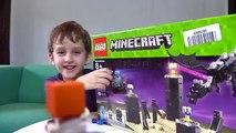 LEGO MINECRAFT THE ENDER DRAGON - Spiderman Kids Videos Minecraft Toys