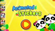 Little Panda Animated Stickers | Children Play and Learn New Words | Baby Panda Fun Game