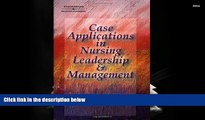 Audiobook  Case Applications in Nursing Leadership and Management Pre Order