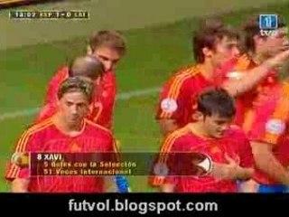 españa - letonia 1-0 xavi - Vídeos de Goles de la Selección Española