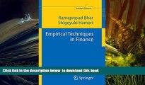 PDF [DOWNLOAD] Empirical Techniques in Finance (Springer Finance) BOOK ONLINE