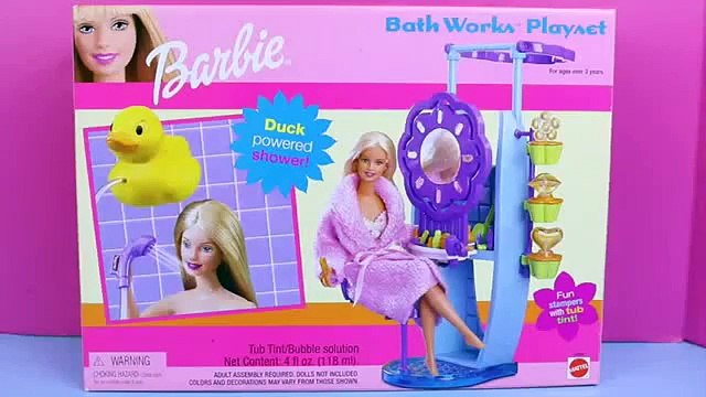 Frozen Elsa Doll BARBIE SHOWER Review Toys of the Barbie Bathworks Playset DisneyCarToys Barbie