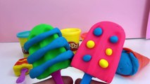 Eis mit Play Doh machen - Basteln mit Knete deutsch - Eiskugel Eis am Stil kneten