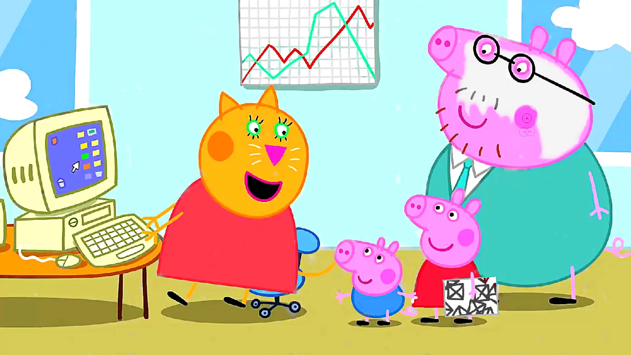 Peppa Pig Daddy Pigs Office Coloring Pages Peppa Pig Coloring Book