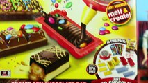 CHOCOLATE CANDY BAR MAKER Toy Marshmallows, Oreos & Sprinkles Sweet Treats Spiderman & Frozen Elsa