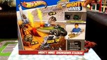 Toy Trucks - Hot Wheels Monster Trucks - Mighty Mini Monster Jam Showdown Stadium by FamilyToyReview