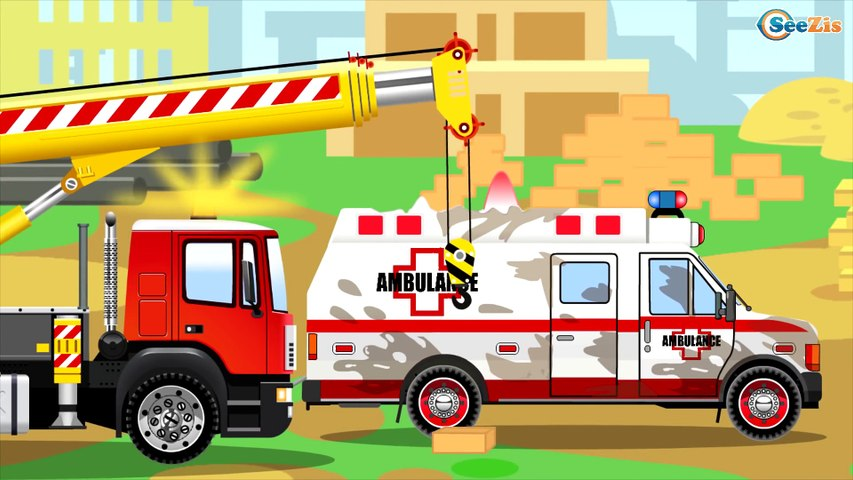 Bulldozer Videos for Kids - The Red Bulldozer Cartoons for children about Construction Trucks