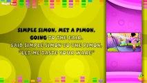 Simple Simon - Karaoke Version With Lyrics - Cartoon/Animated English Nursery Rhymes For Kids
