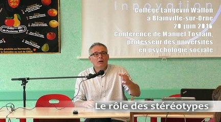 CARDIE Caen - Conférence de Manuel Tostain, professeur de Psychologie sociale à l'Université de Caen-Normandie, au Collège de Blainville-sur-Orne (20 juin 2016)