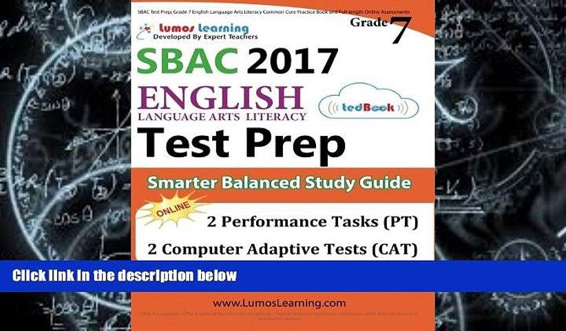 Audiobook SBAC Test Prep: Grade 7 English Language Arts Literacy (ELA) Common Core Practice Book