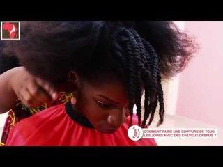 Idée de coiffure avec les cheveux crépus