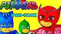 Disney PJ Masks Speed Color! How to PJ Masks Catboy Coloring, Fun PJ Masks Toy Video Les Pyjamasques