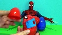 3 Spider-Man surprise eggs with talking Spider-Man Überraschungseier Spiderman