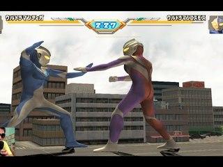 Sieu Nhan Game Play | Ultraman Tiga đấu với Ultraman cosmos | Game Ultraman eluvation 3