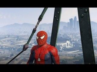 Sieu Nhan Game Play | Mod người nhện lái  máy bay màu hồng | Game GTA 5 #3
