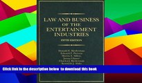 BEST PDF  Law and Business of the Entertainment Industries, 5th Edition (Law   Business of the