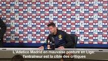 """Atletico Madrid: Simeone ne """"pense pas aux critiques"""""""