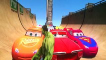 Cars Lightning McQueen CARS Spiderman Ramone & Rayo Dinoco Disney Pixar HULK CARS SMASH PARTY3!