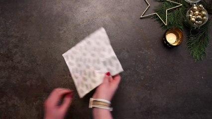 Pliage de serviette : une pochette à couverts