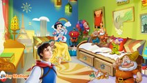 Five Little Snow White Dwarfs Jumping on the Bed | Five Little Monkeys Jumping on the Bed Baby Song