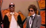 Bob Dylan and Stevie Wonder at 1984 Grammys