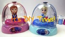 FROZEN Glitter Domes Anna and Elsa Disney Snow Domes Kit per creare una palla di neve scintillante