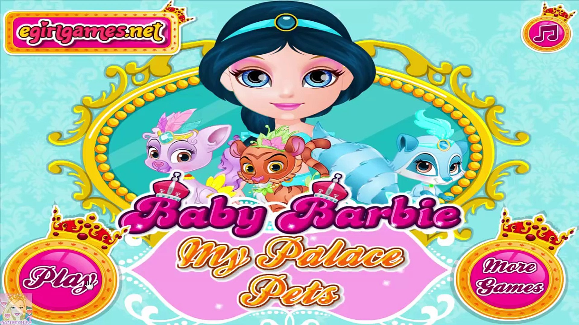 Baby Barbie My Palace Pets - Princess Barbie Palace Pets Care Game for Kids
