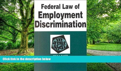 Buy NOW  Federal Law of Employment Discrimination in a Nutshell (In a Nutshell (West Publishing))