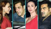 Ex-lovers SALMAN KHAN-IULIA VANTUR & MALAIKA ARORA-ARBAAZ KHAN Party At Sohail Khan Son Birthday