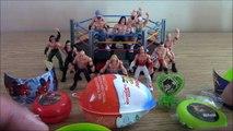 Open Wrestling Suprise Eggs For Boys With Wrestlers And Ring   WRESTLING KINDER SURPRISE