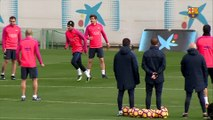 FC Barcelona training session: Last session before the Barcelona derby