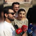 Media Asked Silly Question From New Married Couple Urwa Hocane and Farhan Saeed