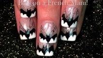 Batman Nails | DIY Halloween Bats Spider web Nail Art Design Tutorial!