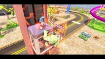 Hulk & Mickey Mouse playtime party with Lightning McQueen FUN ! Water slides Playtime Kids video +2