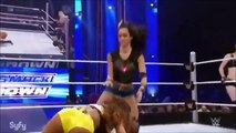 WWE Smackdown AJ Lee & Paige vs Summer Rae & Cameron The Bellas