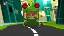 Batman and Hulk Singing Wheels On The Bus | Nursery Rhymes Collection | Cartoon Rhymes
