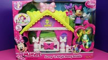 Minnie Mouse Meets the Ninja Turtles and Batman with Superman in Jump N Style Pony Style Stable
