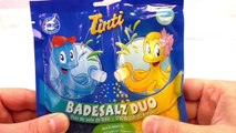 Duo de sels de bain Tinti avec le monstre qui dévore tout – Mélange de sels de bain bleu